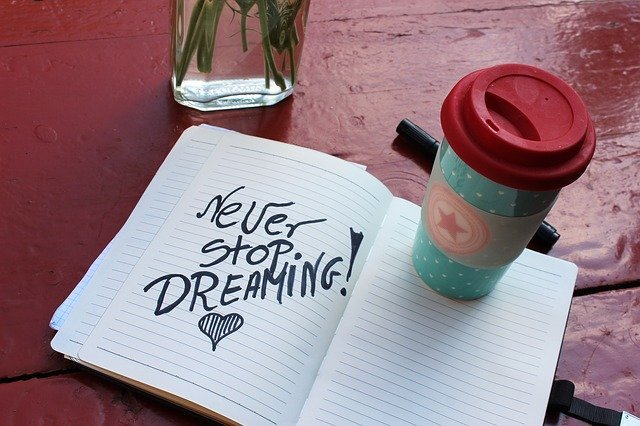 Never Stop Dreaming Kaffee Becher