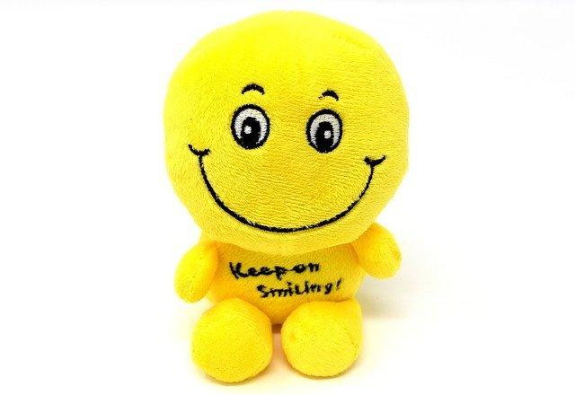 bleibe am lächeln