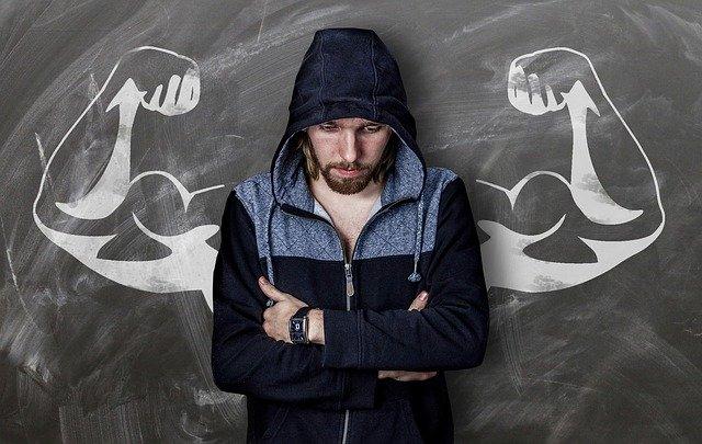 Mann deprimiert vom Training